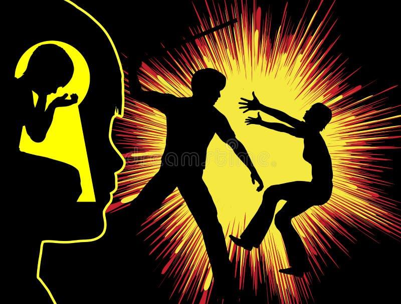 Våld och trauma stock illustrationer