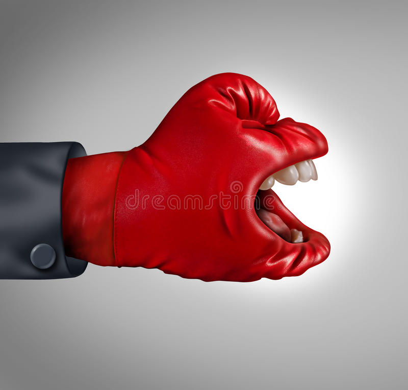 Våldsam konkurrent stock illustrationer