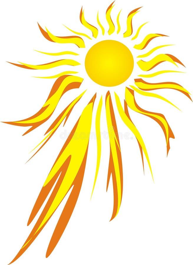 våldsam varm sun royaltyfri illustrationer