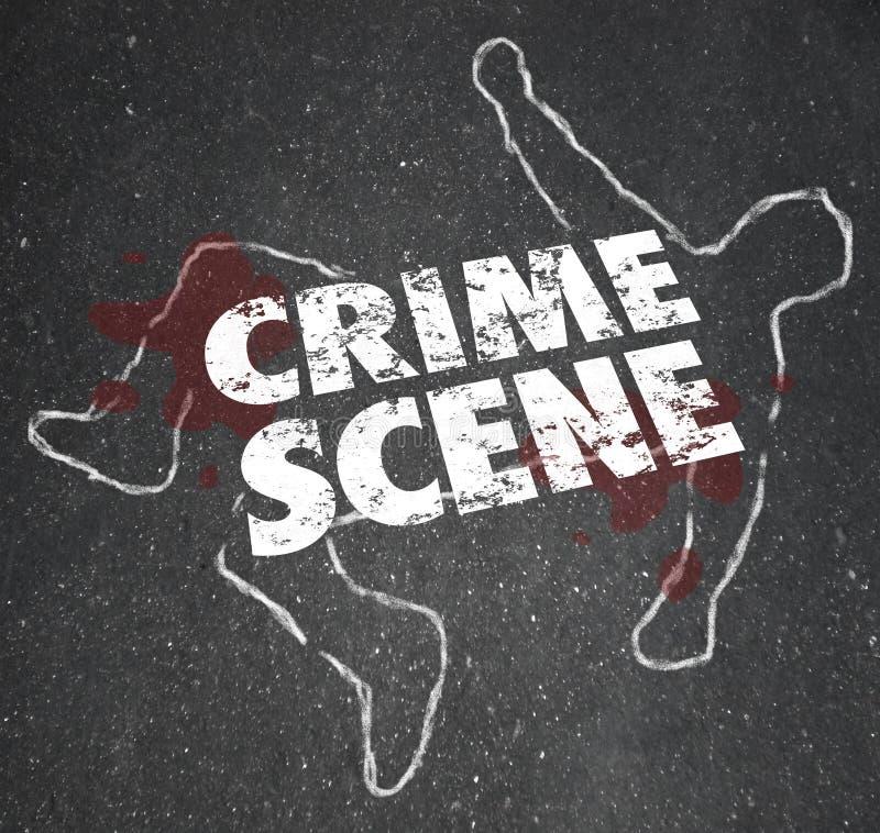 Våldsamt mordmord för brottsplats som förbjudas område royaltyfri illustrationer