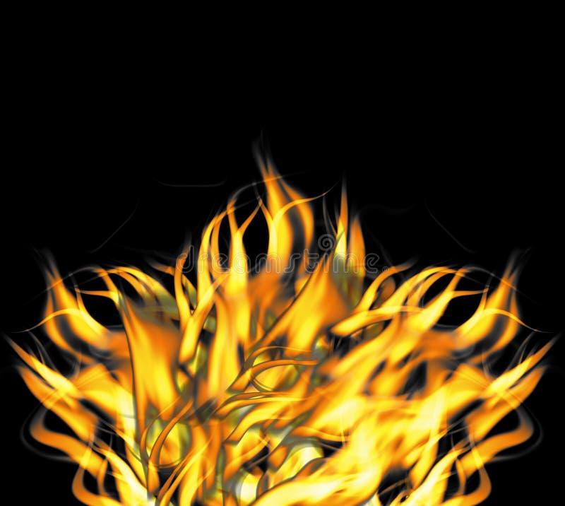 våldsamt rasa för brandflammor vektor illustrationer