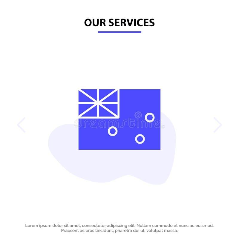 Vår australiska service, Australien, land, för skårasymbol för flagga fast mall för kort för rengöringsduk vektor illustrationer