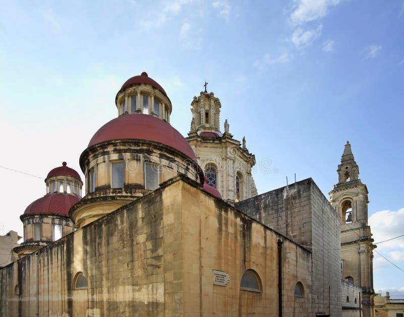 Vår dam av den sakrala hjärtaförsamlingkyrkan i Sliema (Tas-Sliema) Malta ö arkivfoto