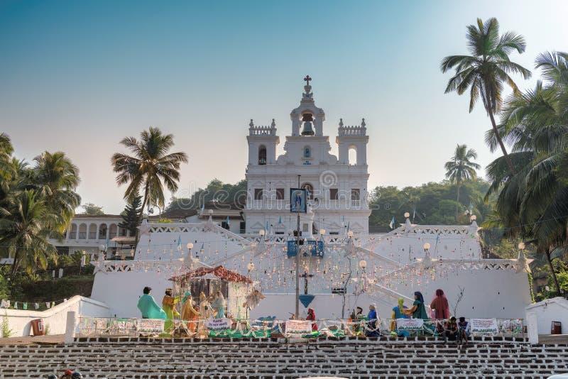 Vår dam av kyrkan för obefläckad befruktning, Goa, Indien royaltyfri bild