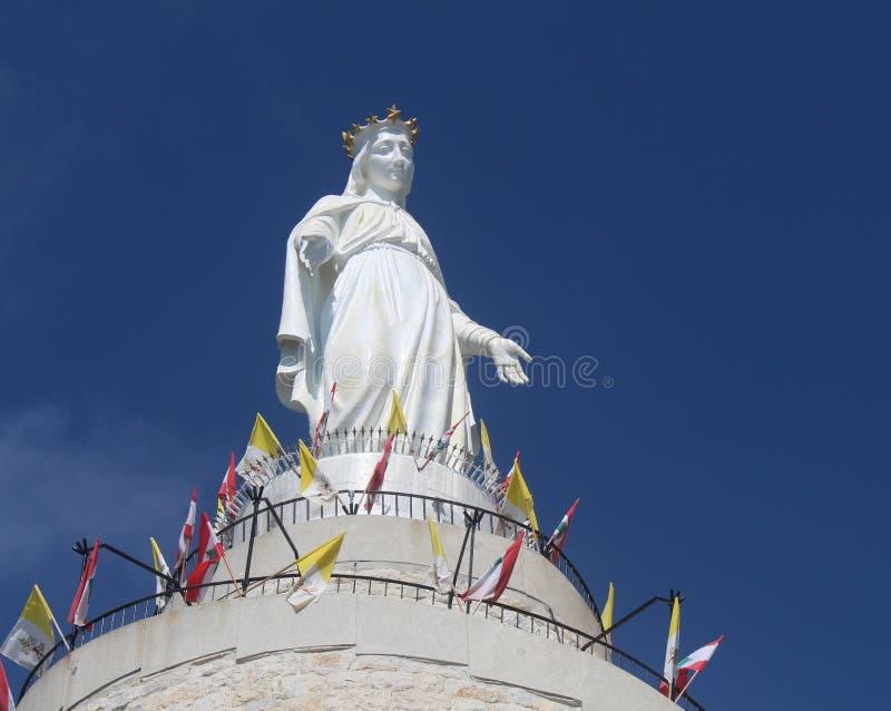 Vår dam av Libanon royaltyfri foto