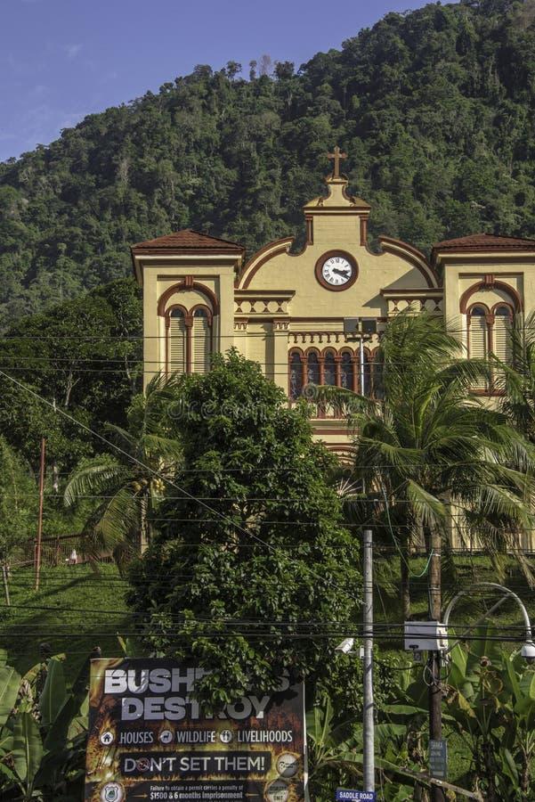Vår dam av Lourdes Catholic Church i Maraval, Trinidad fotografering för bildbyråer