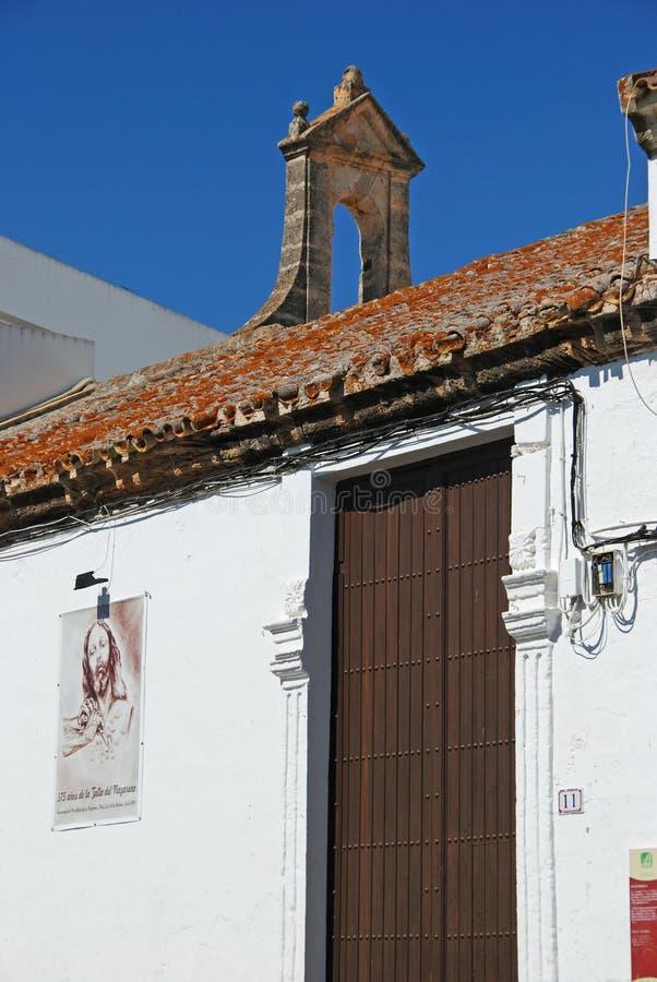 Vår fader Jesus Chapel, Conil de la Frontera, Spanien arkivbilder