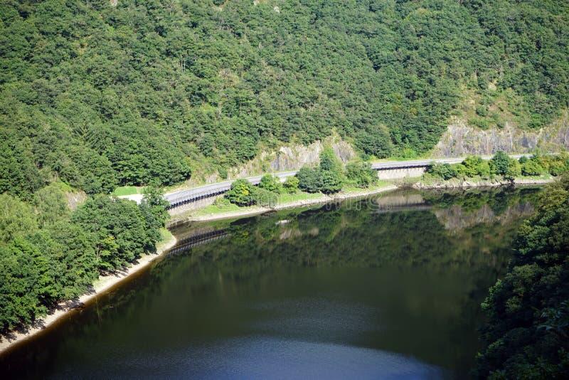 Vår flod och skog royaltyfria foton