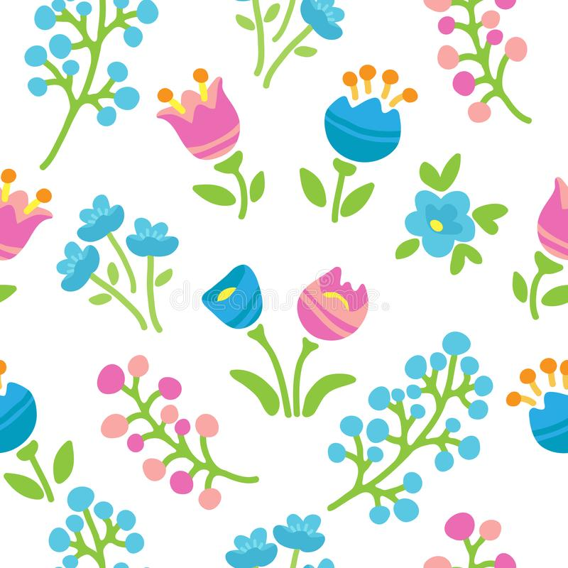 Vår flowers-21 royaltyfri illustrationer