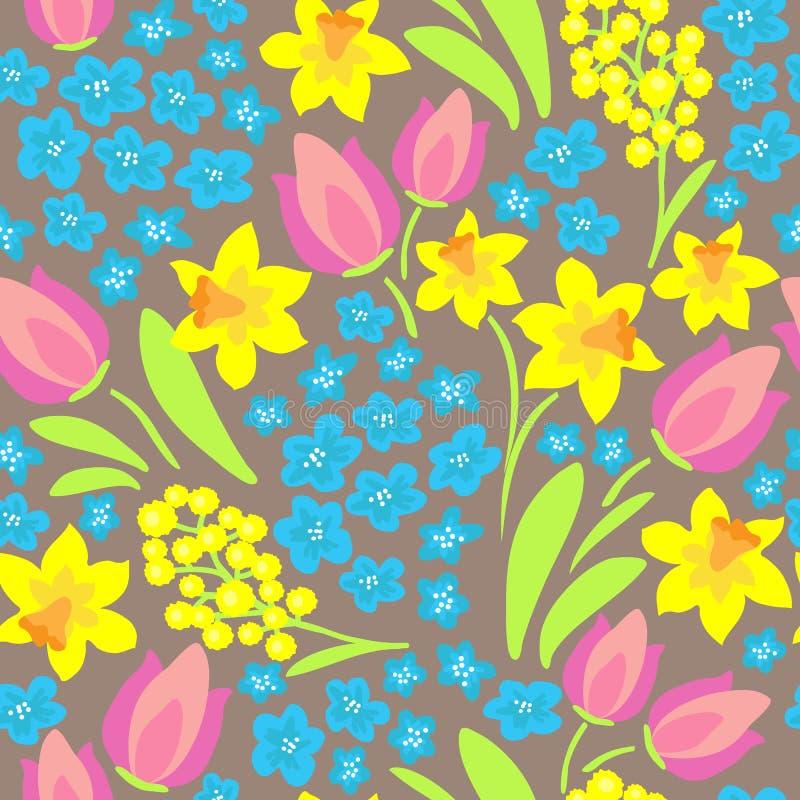 Vår flowers-02 vektor illustrationer