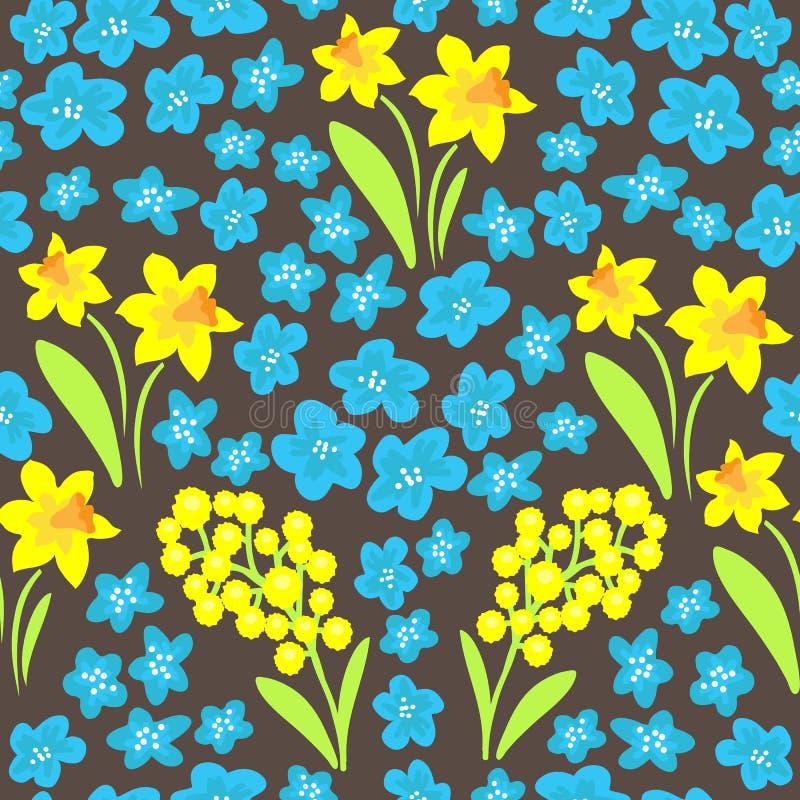 Vår flowers-03 royaltyfri illustrationer