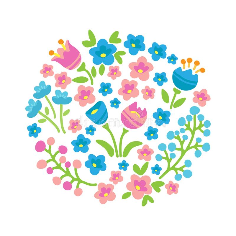 Vår flowers-17 royaltyfri illustrationer