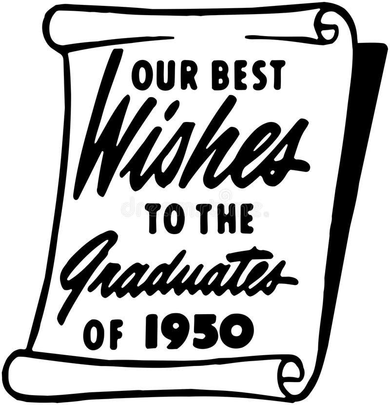 Vår gratulationer till det akademikert royaltyfri illustrationer