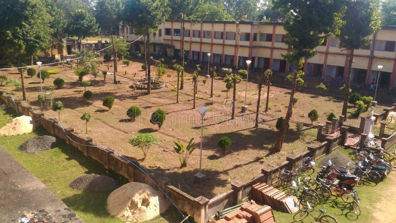 Vår institutträdgård royaltyfri bild