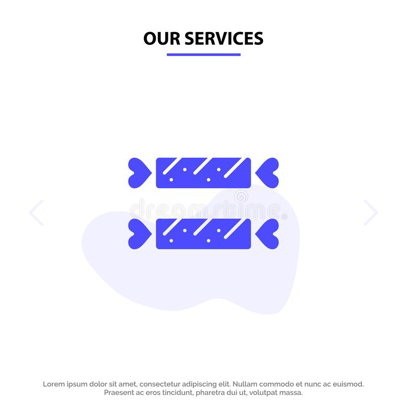 Vår söta service, godis, påsk, för skårasymbol för ferie fast mall för kort för rengöringsduk stock illustrationer