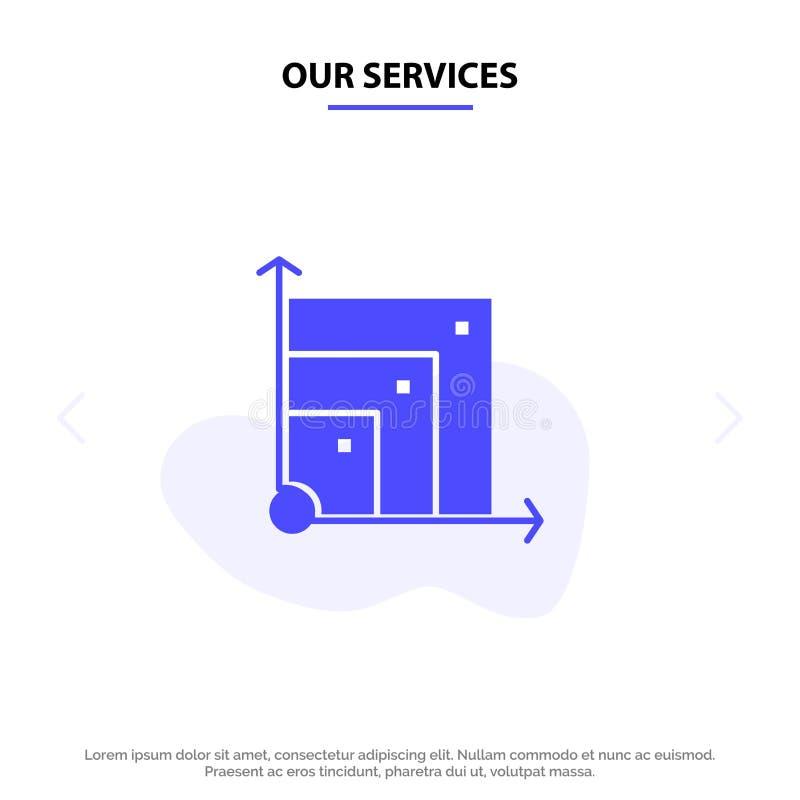 Vår Scalable service, system, Scalable system, för skårasymbol för vetenskap fast mall för kort för rengöringsduk stock illustrationer