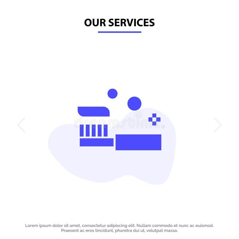 Vår service badar, badrummet, lokalvård, duschen, för skårasymbol för tandborste fast mall för kort för rengöringsduk vektor illustrationer