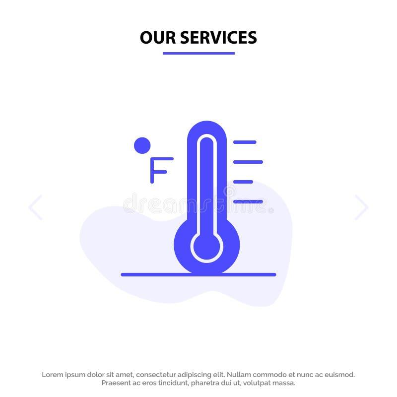 Vår service fördunklar, ljust, regnigt, solen, för skårasymbol för temperatur fast mall för kort för rengöringsduk stock illustrationer