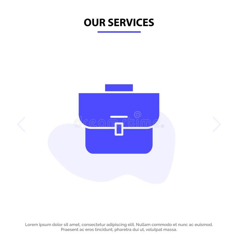Vår service hänger löst, fallet, resväskan, för skårasymbol för sykorg fast mall för kort för rengöringsduk stock illustrationer