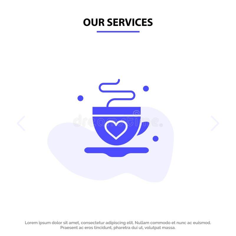 Vår service kopp, kaffe, te, för skårasymbol för förälskelse fast mall för kort för rengöringsduk vektor illustrationer