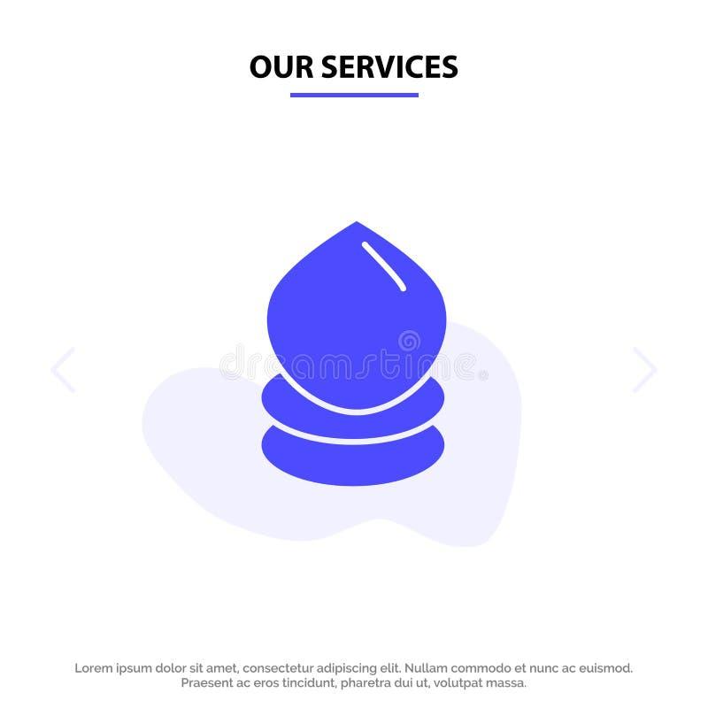 Vår service tappar, Eco, ekologi, för skårasymbol för miljö fast mall för kort för rengöringsduk stock illustrationer