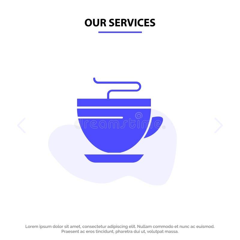 Vår service te, kaffe, kopp, rengörande fast mall för kort för skårasymbolsrengöringsduk vektor illustrationer