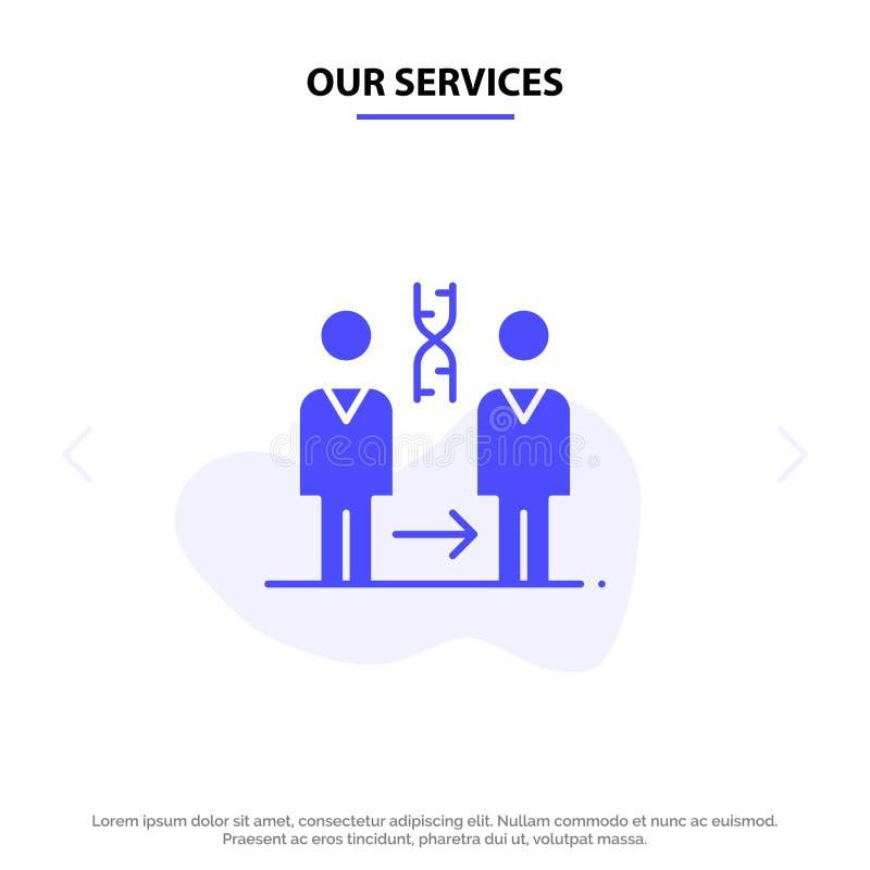 Vår serviceDna, kloning som är tålmodig, sjukhus, vård- fast mall för kort för skårasymbolsrengöringsduk vektor illustrationer