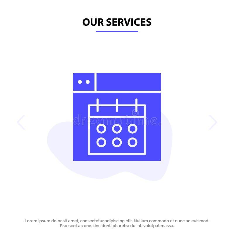 Vår servicerengöringsduk, design, kalender, för skårasymbol för datum fast mall för kort för rengöringsduk stock illustrationer