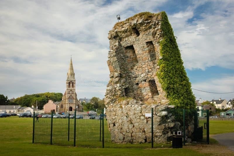 Vår slott för ö för dam` s ståndsmässiga Wexford ireland royaltyfri fotografi