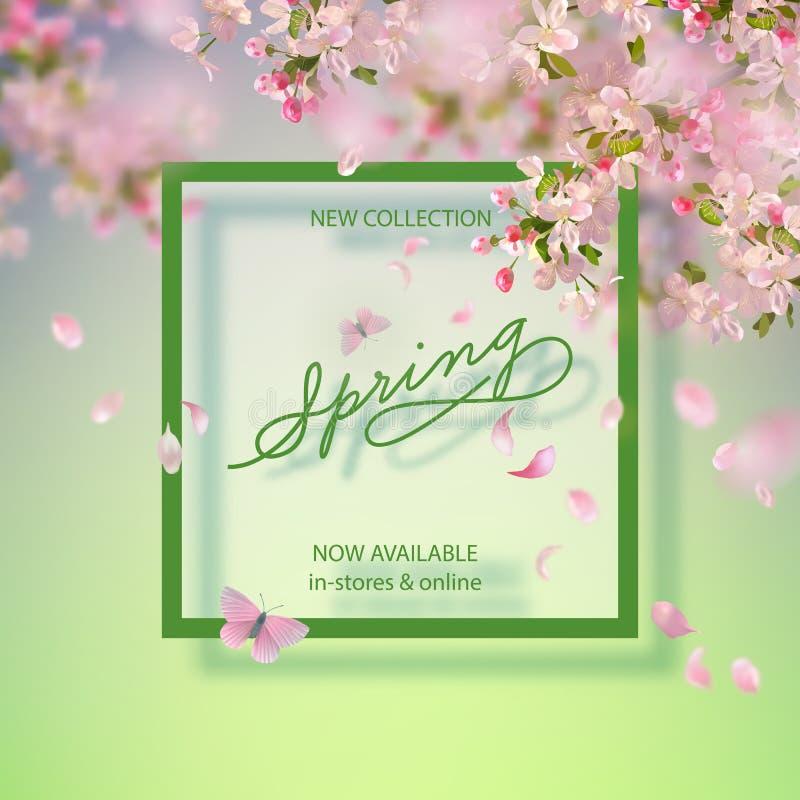 VårApple blomning stock illustrationer