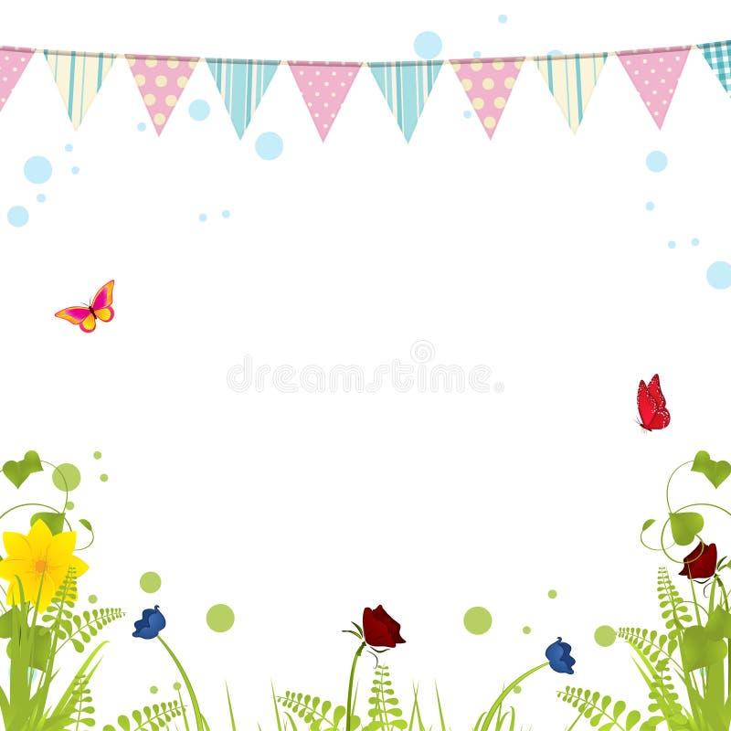 Vårbunting på en vit bakgrund stock illustrationer
