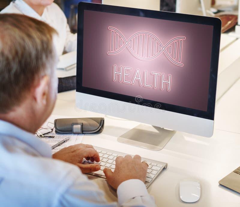 Vård- begrepp för DNAstruktursymbol arkivbild