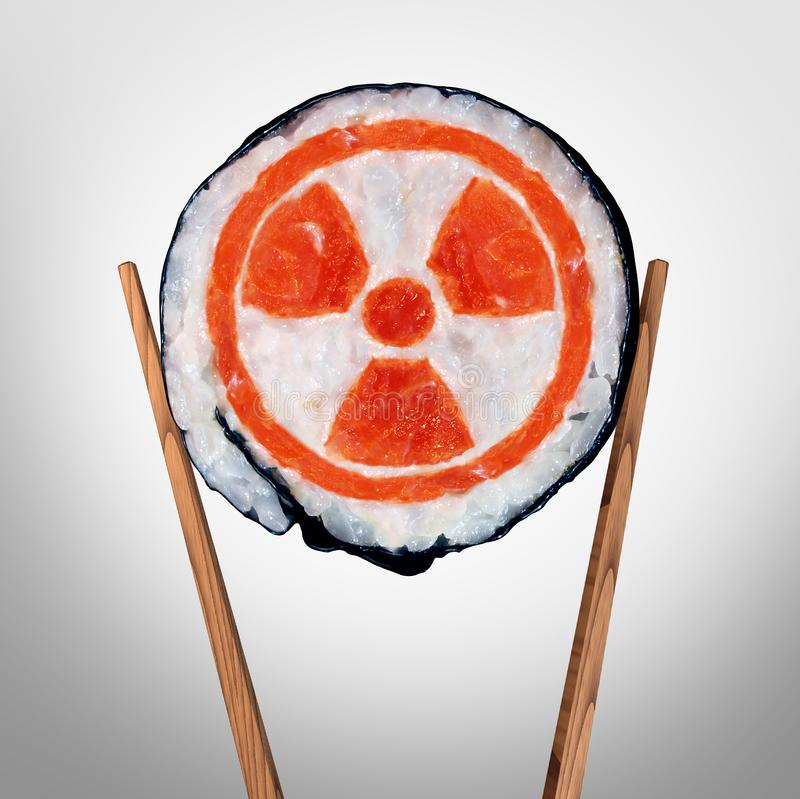 Vård- bekymmer för radioaktiv mat royaltyfri illustrationer