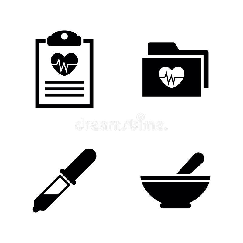 Vård- hjärta Enkla släkta vektorsymboler vektor illustrationer