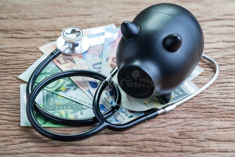 Vård- kontroll för finans på det europeiska fackliga ekonomiska begreppet för E. -, blac royaltyfri foto