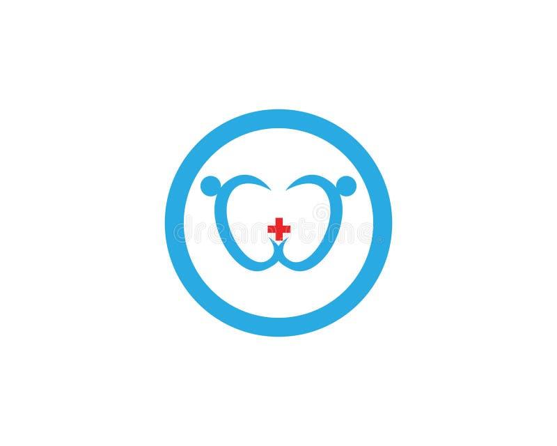 Vård- medicinsk design för illustration för logomallvektor stock illustrationer
