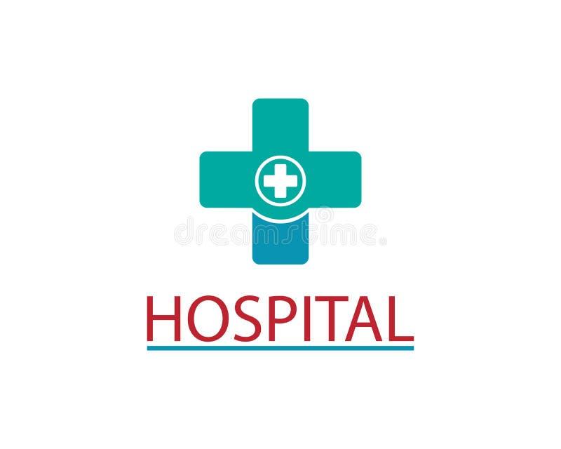Vård- medicinsk design för illustration för logomallvektor royaltyfri illustrationer