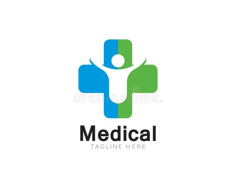Vård- medicinsk illustration för logomallvektor vektor illustrationer