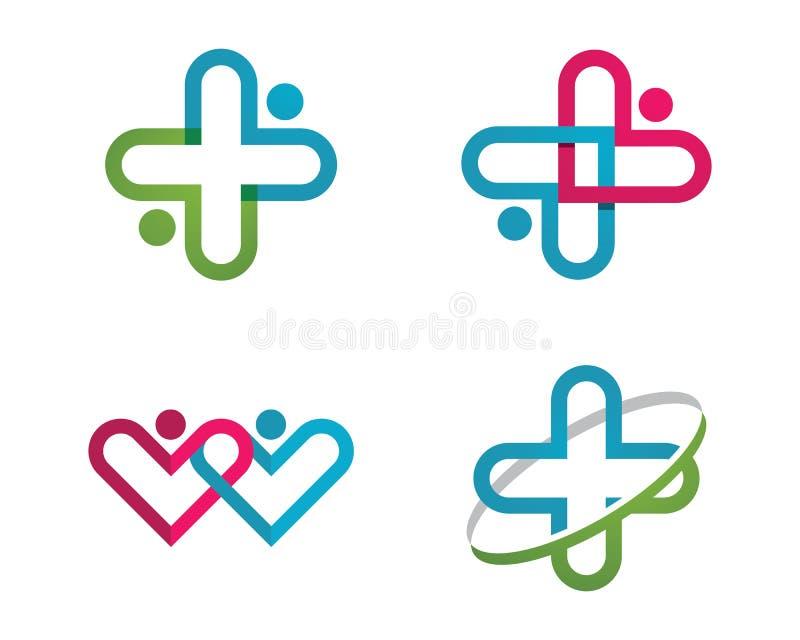 Vård- medicinsk logo royaltyfri illustrationer