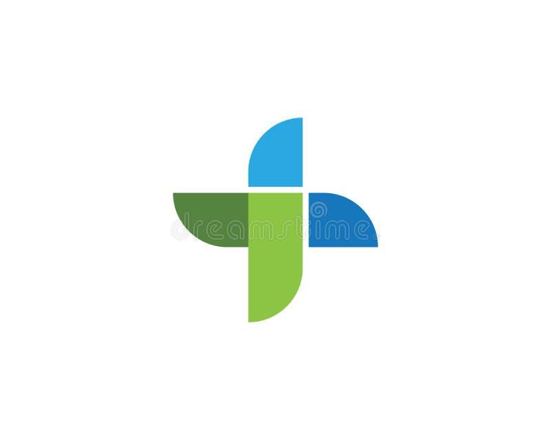 Vård- medicinsk logomall vektor illustrationer