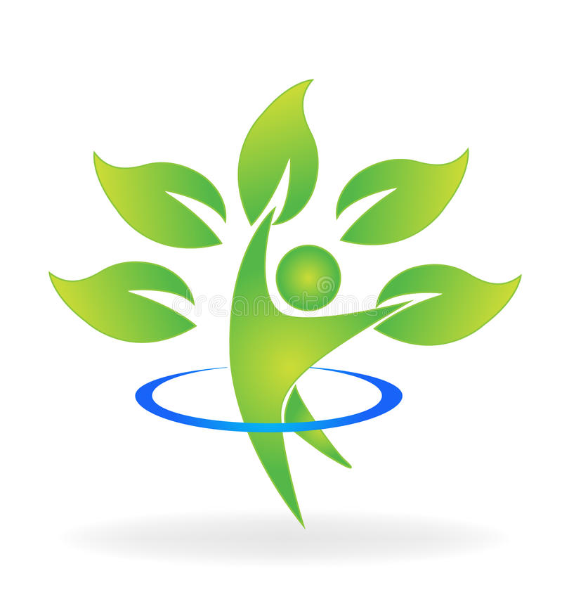 Vård- naturträddiagram logo vektor illustrationer