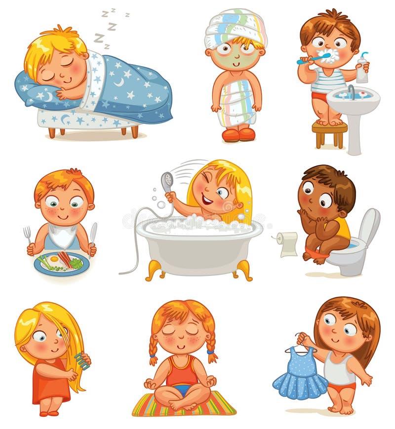 Vård- och hygien royaltyfri illustrationer