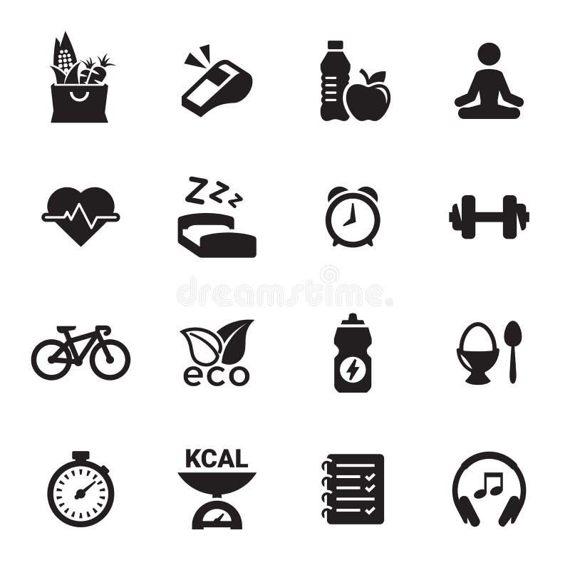 Vård- och konditionsymboler vektor illustrationer