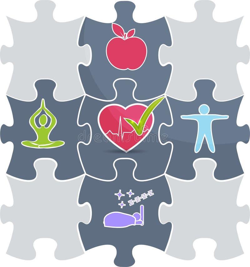 Vård- pussel royaltyfri illustrationer