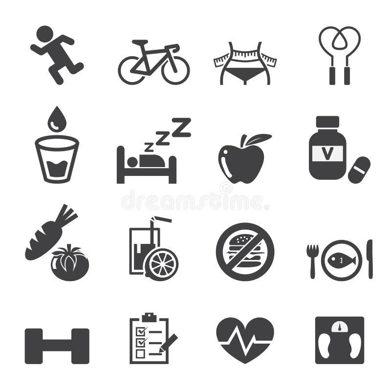 Vård- symbolsuppsättning stock illustrationer