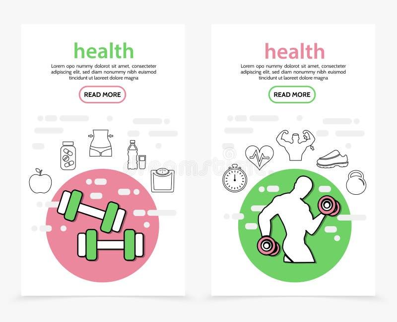 Vård- vertikala baner royaltyfri illustrationer
