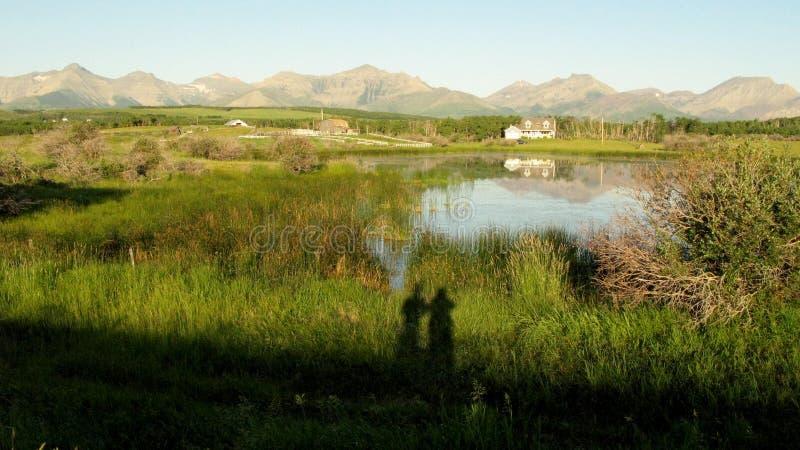 Våreftermiddag i sjön arkivfoton