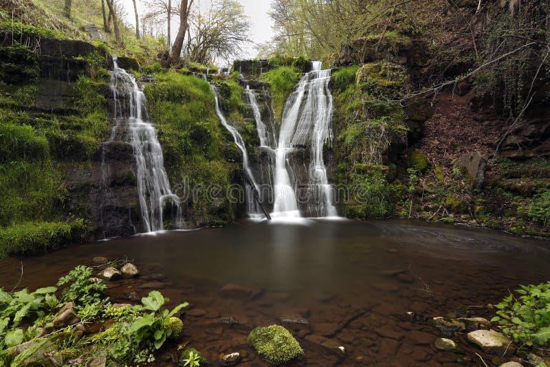 Våren är kommande - Vernal vattenfall royaltyfri bild