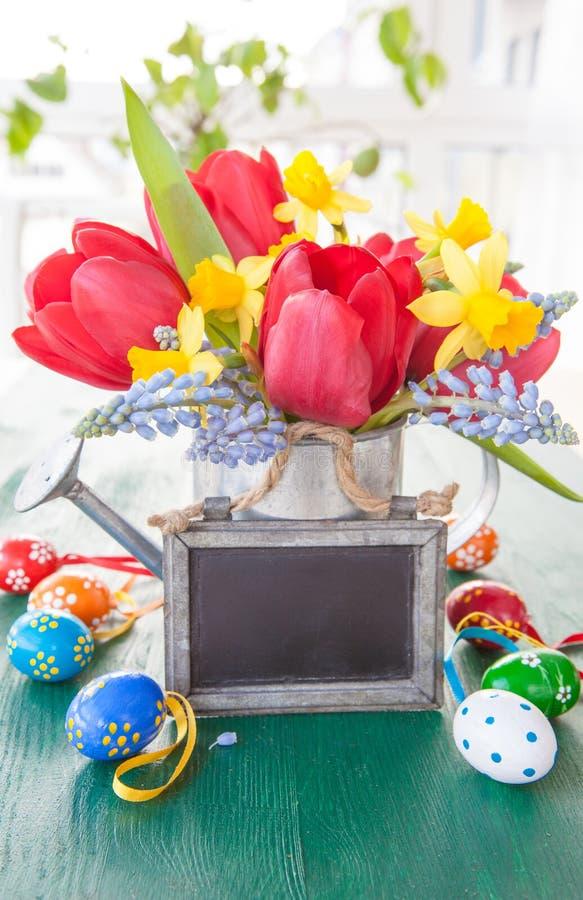 Våren blommar ägg för adn easter royaltyfria bilder