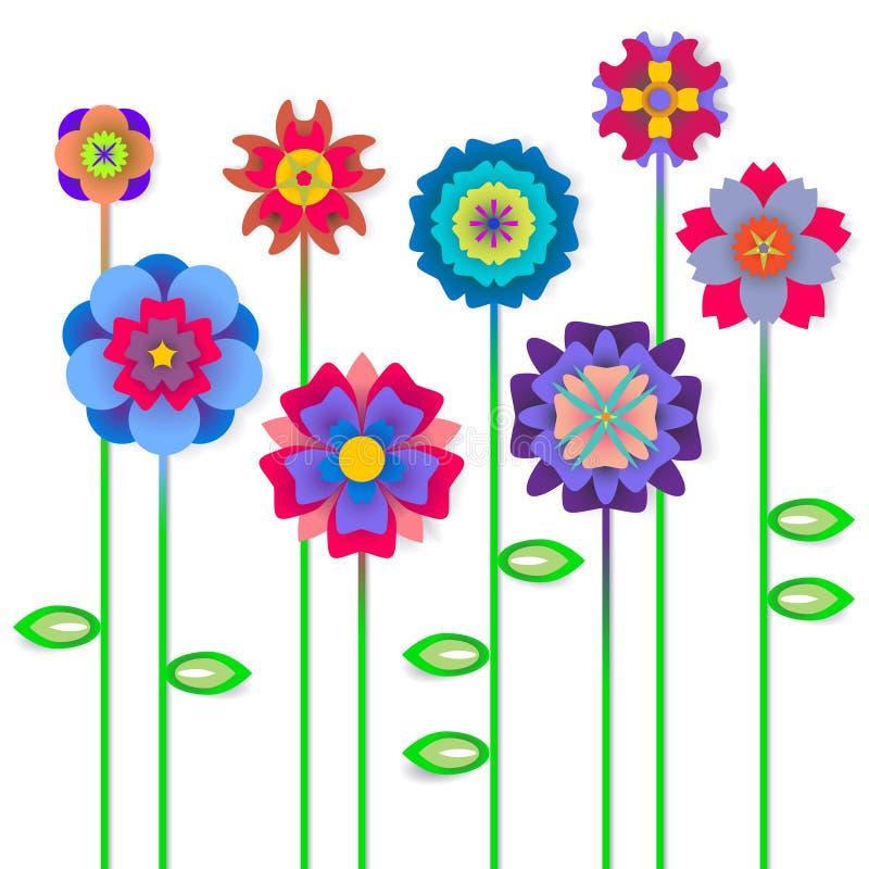 Våren blommar bakgrund med utrymme för en text royaltyfri illustrationer